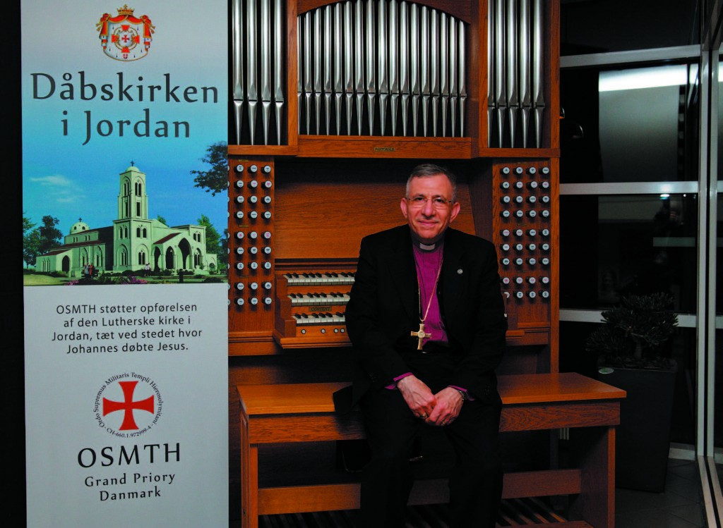 Bishop Munib Younan With Donated Organ