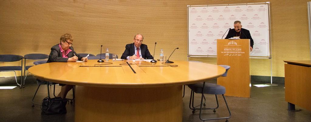 Bishop Younan gives his lecture at The Van Leer Jerusalem Institute.