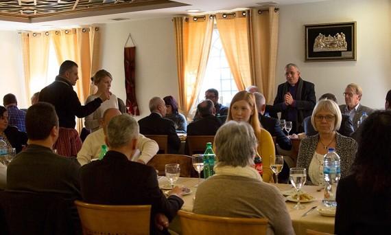 Bishop Munib Younan addresses the assembled Church Councils. (© D. Hudson/ELCJHL)