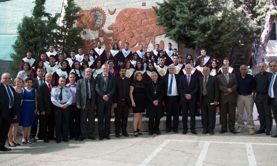 The 2015 graduating class of Talitha Kumi Lutheran School