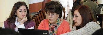 ELCJHL Teachers work together at Workshop on Conflict Resolution