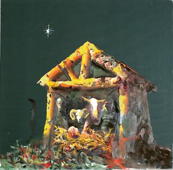 Jesu fodsel by Norwegian Artist Haakon Gullvag