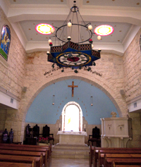 Inside the Evangelical Lutheran Church of the Reformation in Beit Jala
