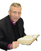 Bishop Younan with Bible