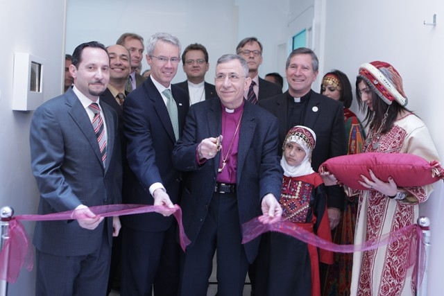 Representatives from USAID, LWF and AVH at the opening of the new linear accelerator