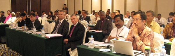 LWF President Bishop Younan and LWF General Secretary Rev. Martin Junge at Asia Church Leadership Conference