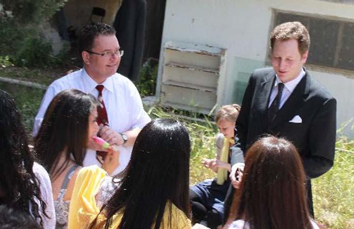 Prince greets Talitha Kumi students