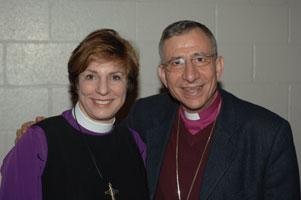 Jan Burkat and Bishop Munib Younan