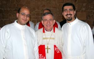Rev. Imad Haddad, Bishop Munib Younan, and Rev. Saliba Rishmawi
