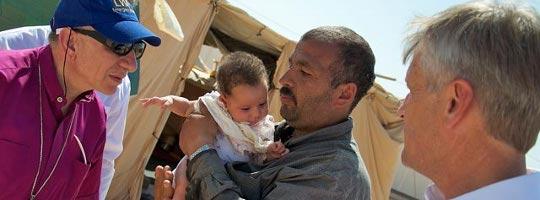 Za'atri's Syrian Refugee Camp in Jordan: Bishop Younan, General Secretary Martin Junge