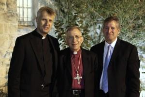 Rev. Martin Yunge, Bishop Munin Younan, Rev. Mark Brown