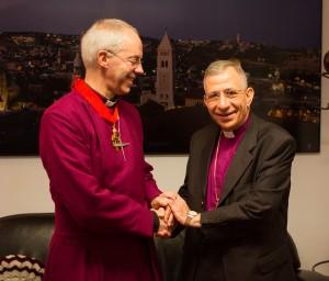 Archbishop Justin Welby and LWF President Bishop Munib Younan