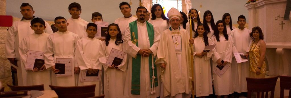 The confirmads from the Evangelical Lutheran Church of the Reformation in Beit Jala.
