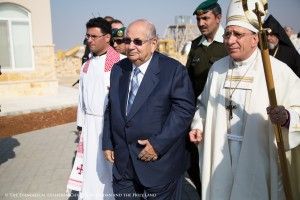 Prince Raed bin Zeid of the Hashemite Kingdom of Jordan, Bishop Munib Younan, and Rev. Samer Azar of the Evangelical Lutheran Church of the Good Shepherd in Amman