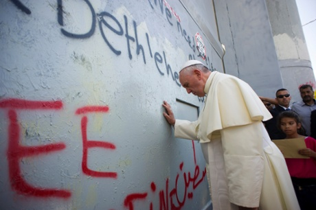 Pope Francis Prays at the Separation Wall