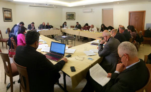 The ELCJHL Synod looks over their revised Constitution before it was put to a vote. (© D. Hudson/ELCJHL)